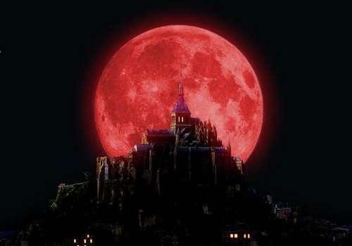 Почему луна красного цвета